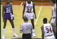 乔丹经典比赛:1987年乔丹58分大胜篮网 全场录像回放-一拳录像网